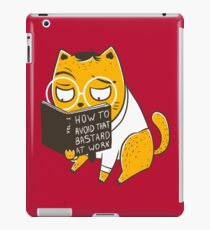 Avoid That Bastard at Work iPad Case/Skin