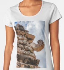 The Great God Chac at the Nunnery in Chichen Itza Women's Premium T-Shirt