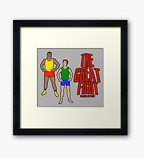The Great Fight Framed Print