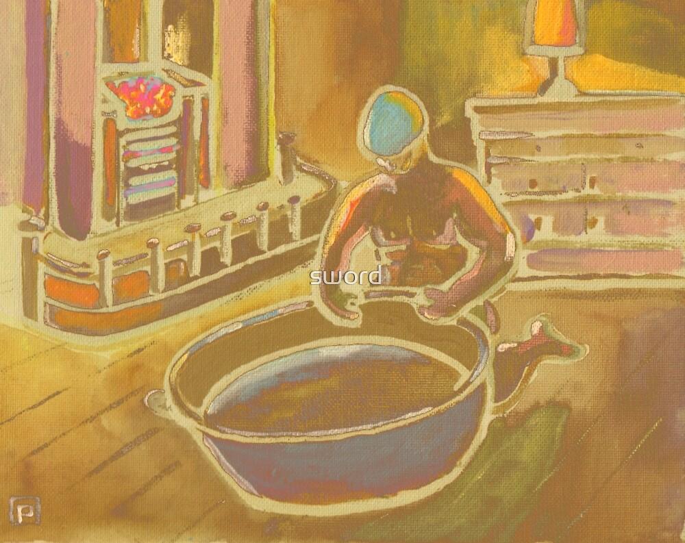 Big Geordies Bath Night by sword