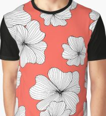 flowers red Graphic T-Shirt