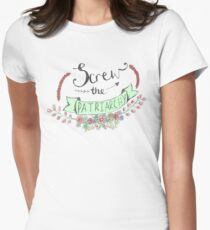 Screw The Patriarchy Women's Fitted T-Shirt