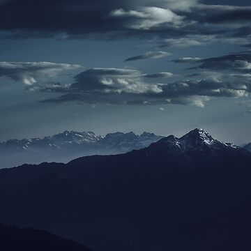 Lonely peak of the mountains by Hudolin