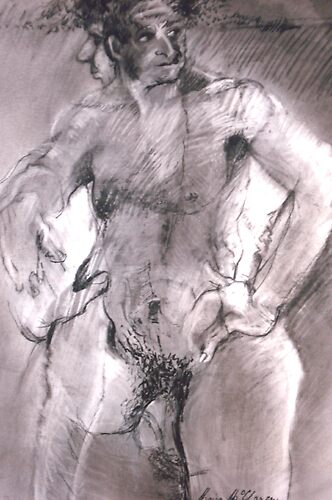 Male Nude by Moira  McClaren