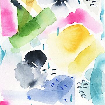Spring Watercolor Abstract by luisanino