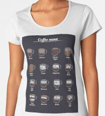 The coffee map Women's Premium T-Shirt