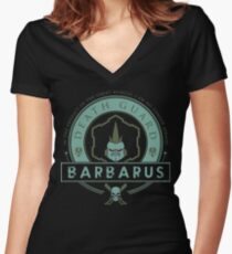 Barbarus - Elite Edition Women's Fitted V-Neck T-Shirt