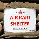 A World War 2 Air Raid Shelter Sign by Andrew Harker