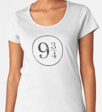 Train Station Platform Number Women's Premium T-Shirt