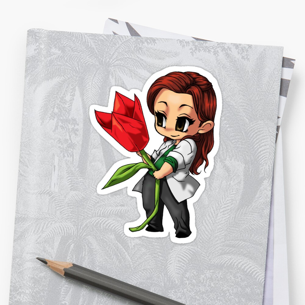 Sara Tancredi Origami Flower Stickers By Bycutepoison Redbubble