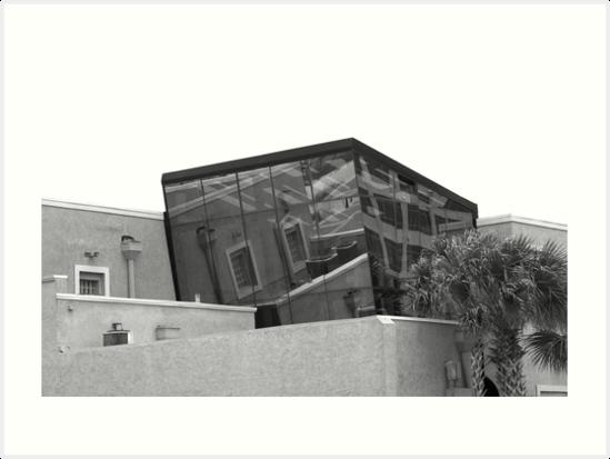 Glass Building - Black & White by Neema Fallon