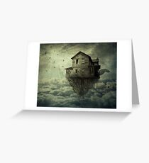My Flying House Greeting Card