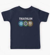 Swim Bike Run Triathlon Kids Tee