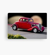 1934 Ford 'Red' Coupe I Canvas Print