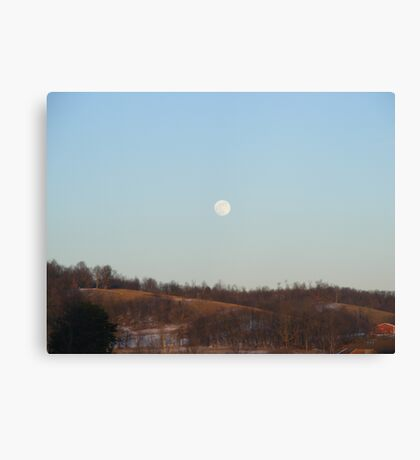 Day-Moon Canvas Print