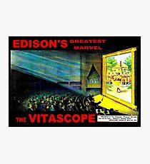EDISON GREATEST MARVEL VITASCOPE: Vintage Advertising Print Photographic Print