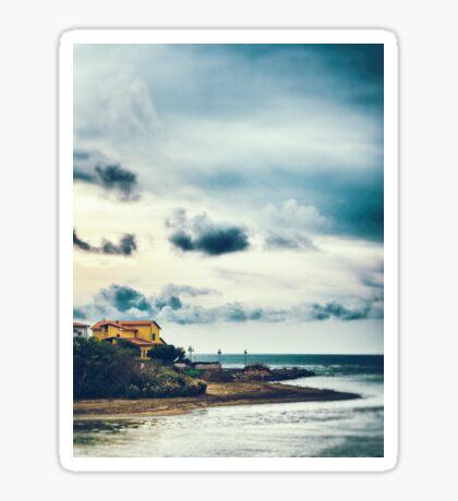 Sea, beach, house Sticker