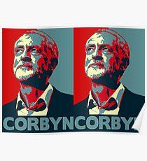 Jeremy Corbyn Portrait Poster