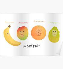 Apefruit (white) Poster
