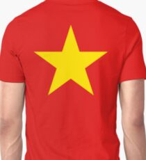 YELLOW STAR, on RED Unisex T-Shirt