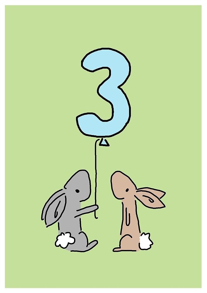 Rabbit Balloon by Emma Moules