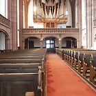 Dreikonigsgemeinde Church Pews in Frankfurt Germany by RosevineCottage