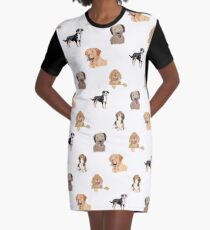 Dog Pattern Graphic T-Shirt Dress