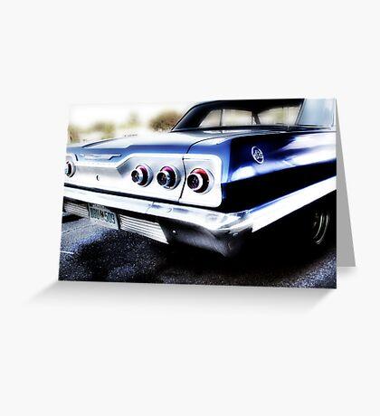 chevy impala, route 66, tulsa, oklahoma Greeting Card