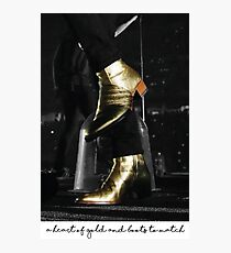 A heart of gold and boots to match Photographic Print