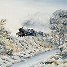 Manor in Winter by Rasendyll