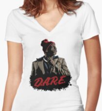 Tyrone Biggums Dare 2 Women's Fitted V-Neck T-Shirt
