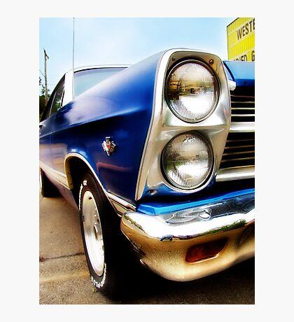 ford fairlane, route 66, miami, oklahoma Photographic Print