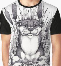 Otter & Aquatic Plants Graphic T-Shirt