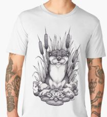 Otter & Aquatic Plants Men's Premium T-Shirt