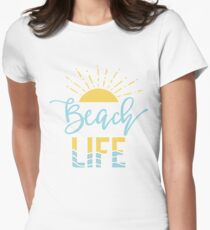 Beach Life Women's Fitted T-Shirt