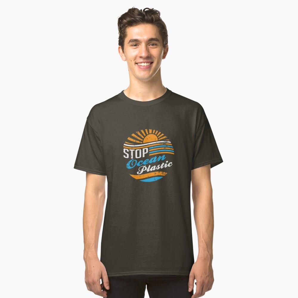 Stop Ocean Plastic Classic T-Shirt Front