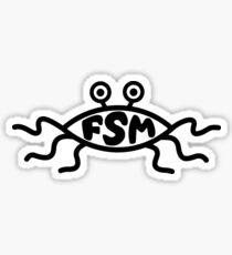 FSM - Flying Spaghetti Monster Sticker