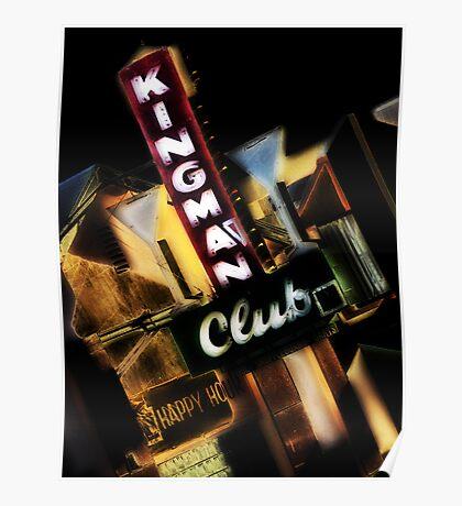 kingman club, route 66, kingman, arizona Poster