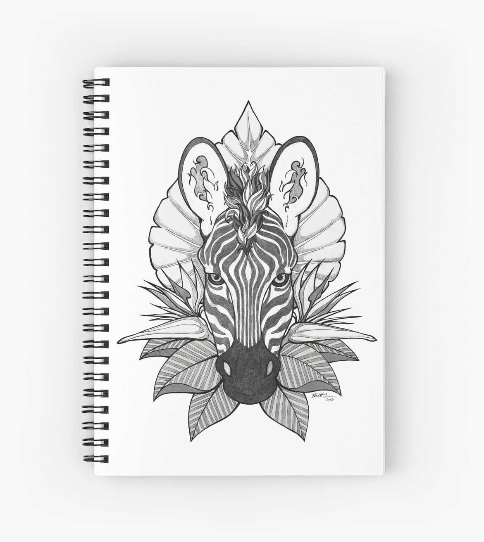 Zebra & Jungle Leaves by Britt Sorensen