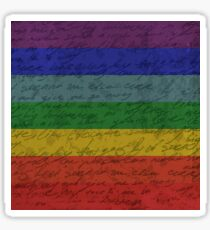 Vintage flag - Pride Sticker