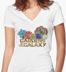 GARDENS OF THE GALAXY Women's Fitted V-Neck T-Shirt