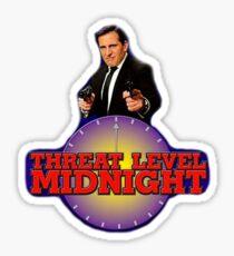 Bedrohungsniveau Mitternacht Büro Sticker