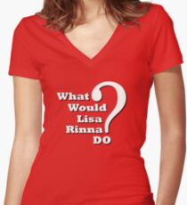 What Would Lisa Rinna Do? Women's Fitted V-Neck T-Shirt