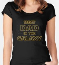 Best Dad in The Galaxy - Star Wars Women's Fitted Scoop T-Shirt