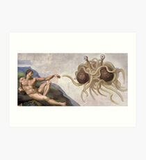 FSM Touched by His Noodly Appendage Art Print