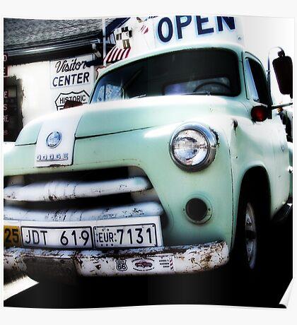 old dodge truck, route 66, seligman, arizona Poster