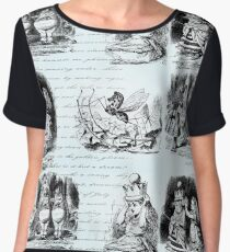 Alice in Wonderland Toile Women's Chiffon Top