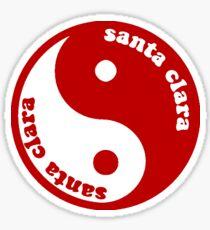 Santa Clara Ying Yang Sticker