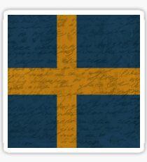 Vintage flag - Sweden Sticker