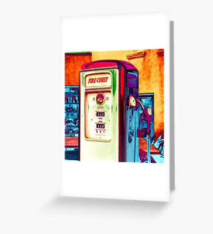 fire chief, route 66, albuquerque, new mexico Greeting Card